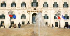 Auberge de Castille, Valletta, Malta. 4K Stock Footage