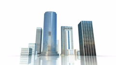 Layout of the business district of the city with skyscrapers - stock footage