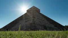 Time lapse of chichen itza temple Stock Footage