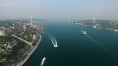 Istanbul Bosphorus Stock Footage
