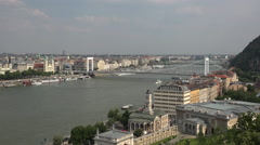 Cityscape of Budapest, Danube river Stock Footage