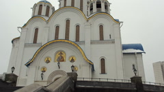 Church of the Intercession of the Holy Virgin, Yasenevo, Moscow. PAN. Stock Footage