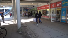 Stock Video Footage of Lots of Arab immigrants and Arab shops in Puhos shopping centre in Itakeskus