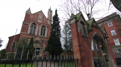 Greek Orthodox temple in Nottingham, England Stock Footage