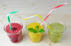 Colorful Appetizing Smoothies - stock photo