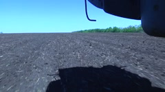 Movement above the ground. Harvester. Tillage Stock Footage