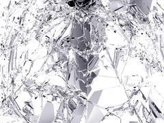 Pieces of destructed Shattered glass Stock Illustration