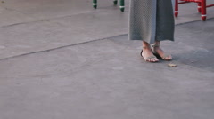 Spanish dance foot close up Stock Footage