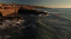 4k San Diego Coast Sunset 001. PART 2 Fly Over Stock Footage