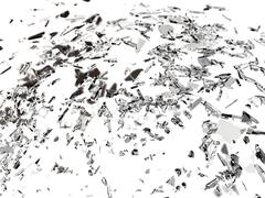 Pieces of splitted or cracked glass Stock Illustration