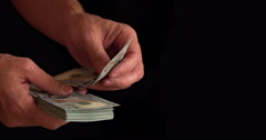 Counting Banknotes 4K Stock Footage