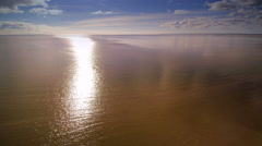 Suns reflection on the water of the sea Stock Footage