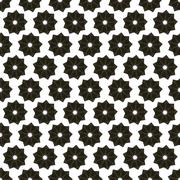 Seamless Black and White Abstract Pattern from Repetitive Squares - stock illustration