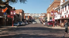 Fort Worth Stockyards- zoom into entrance sign - stock footage