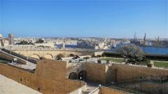 Valletta panorama, Malta Stock Footage