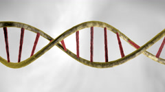 Rotation in Slow Motion of realistic DNA Double Helix 4k over white background, Stock Footage