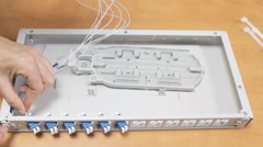 Optic Patch Panel Stock Footage
