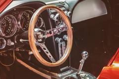 Dashboard of a classic car Stock Photos