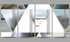 Modern vector flyers. Abstract multicolored background of blurred nature - stock illustration