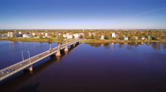 The progressive city of Parnu in Estonia Stock Footage