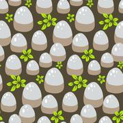 Stones and rocks on ground pattern - stock illustration