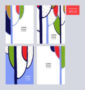 Trees Card - stock illustration