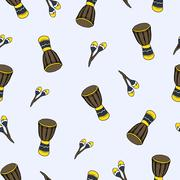 Musical Instruments Pattern - stock illustration