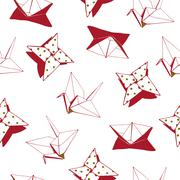 Origami Pattern - stock illustration