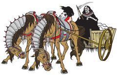 cart of death - stock illustration