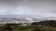 Los Angeles San Fernando Valley Clearing Storm Time Lapse Stock Footage