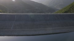 modern hydroelectric power plant - stock footage