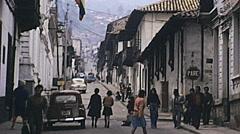 Caracas 1978: people walking in the street Stock Footage