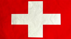 Stock Video Footage of Swiss flag waving in the wind (full frame footage)