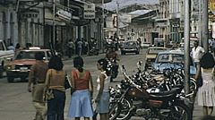 Iquitos 1978: traffic in the street Stock Footage