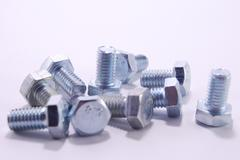 New steel bolts Stock Photos