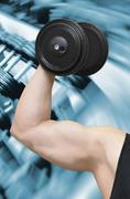 Bodybuilder and gym Stock Photos