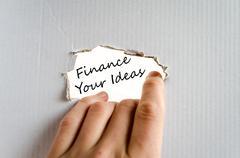Finance your ideas text concept Stock Photos