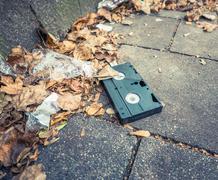 Abaondoned VHS Cassette Kuvituskuvat