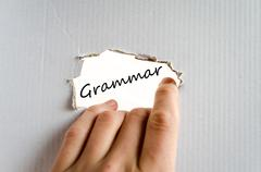 Grammar text concept - stock photo