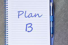 Plan b write on notebook - stock photo