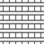 Seamless pattern made of film stripes - stock illustration