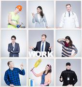 Every work is important and valuable! Stock Photos