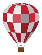 Red white air balloon Stock Illustration