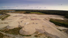 A limestone quarry area in the middle of the forest Stock Footage