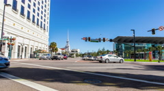 Timelapse: Street Scene Orlando Center, Florida, USA Stock Footage