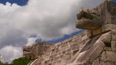 Platform of Venus in Chichen Itza - stock footage