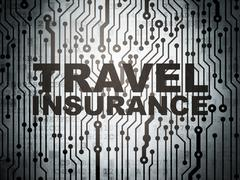 Insurance concept: circuit board with Travel Insurance - stock illustration