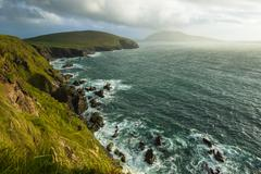Scenic view over West coast of Ireland on Dingle peninsula County Kerry - stock photo