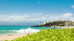 Kaanapali Beach on Maui Island in Hawaii Stock Footage
