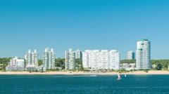 Luxury Apartment Condos Hotel Resorts in Punta del Este Uruguay Stock Footage